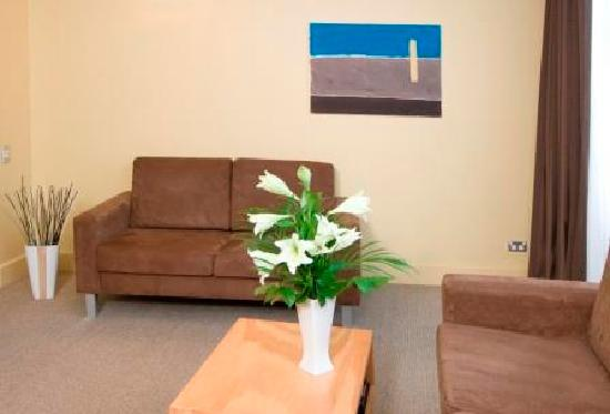 Quest at St Pauls: one bedroom living area