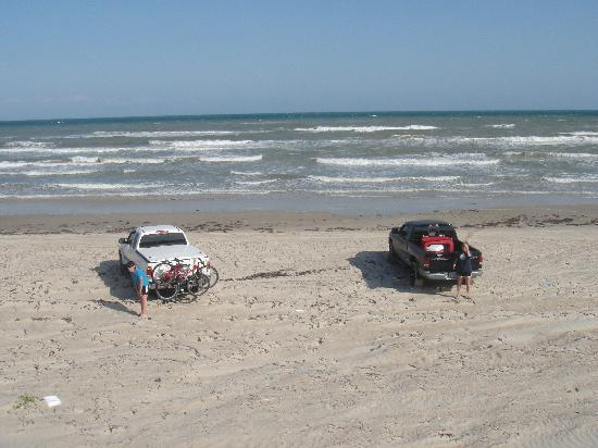 About 15 miles down south beach picture of padre island for Padre island national seashore fishing report