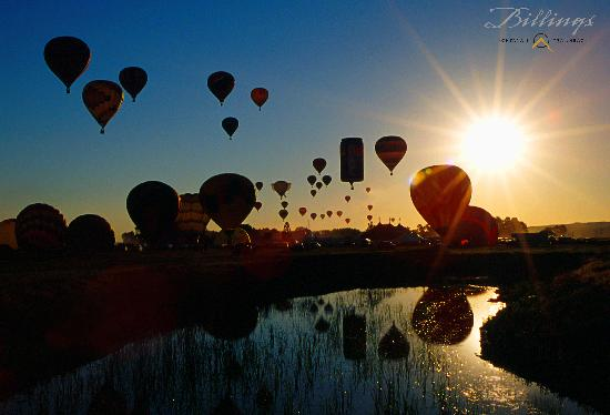 Hot Air Balloons at sunrise - from the Billings Convention & Visitors Bureau