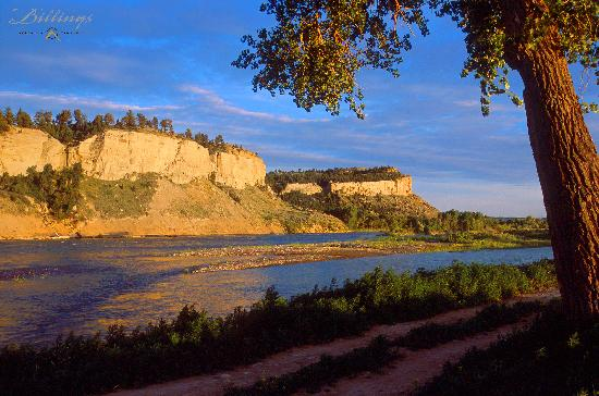 Rimrock bluffs cradle the Yellowstone River - from the Billings Convention &amp; Visitors Bureau