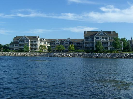 Sturgeon Bay, WI: View from Bay to Resort