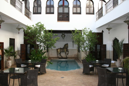 Riad Assakina: The Courtyard Seating Area