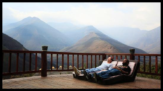 Tsehlanyane National Park, : Relaxing day beds. theres 6 day beds on the main patio!