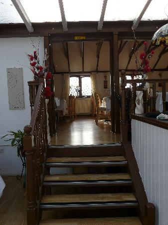 Egham, UK: The stairs to the upper restaurant