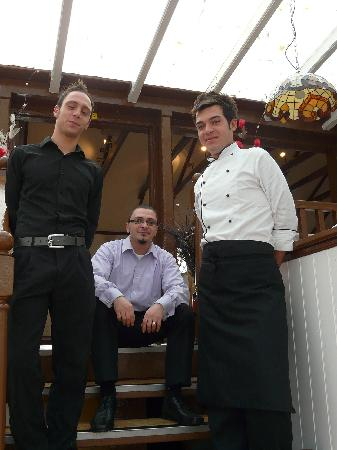 Egham, UK: Lucca the owner flagged by his maître di and chef