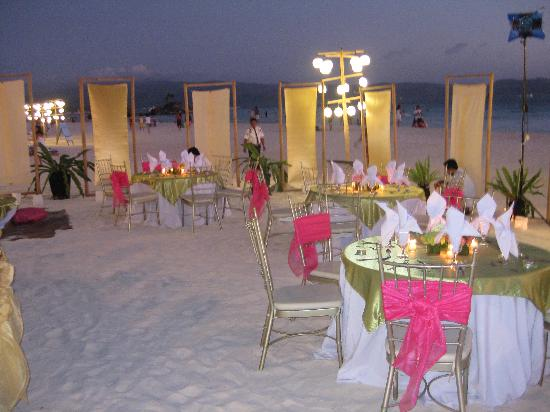 Sea Wind Boracay Island: wedding reception setting