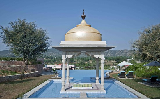 Tree of Life Resort & Spa, Jaipur: Infinity Pool with a great view