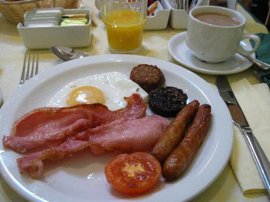 Irish breakfast @ Abacus Guest House