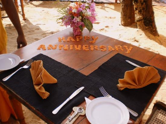 Thaproban Beach House: Anniversary