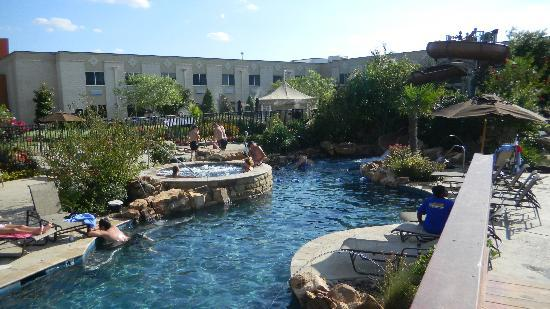 Durant, OK: pool with slide view