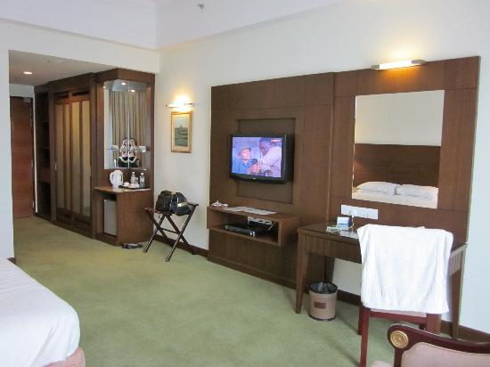 Deluxe room wardrobe and tv picture of heritage hotel