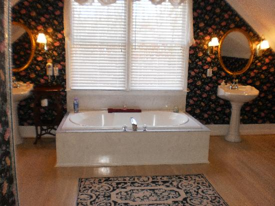 Scenic Overlook Bed and Breakfast: romantic bath