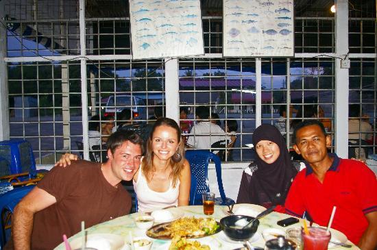 Nipah Guesthouse: Dinner with Alicia and Anuar