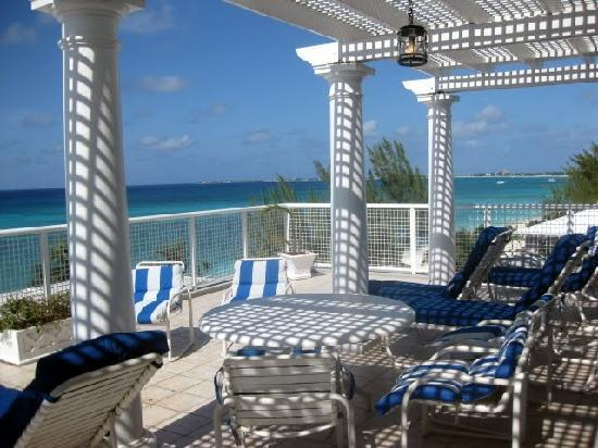 Grand Cayman Beach Suites: our patio (two-bedroom suite)