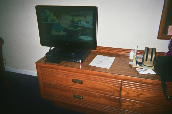 Paddlewheel Motel: the flatscreen in the double room is a PLUS!