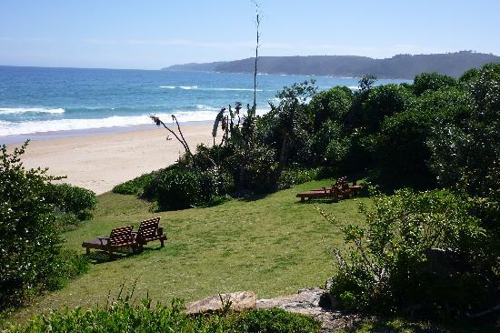 The Pink Lodge on the Beach: garden