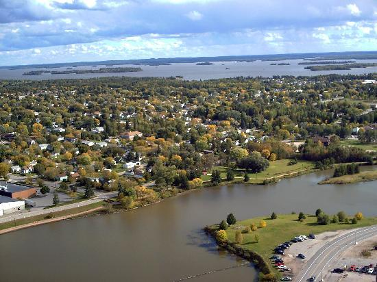Dryden, Canada: Beautiful Fall Shot overlooking the City