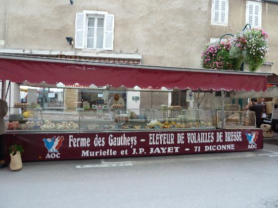 Beaune, Frankrike: Famous Bresse Chickens