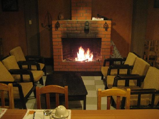 Chivay, Peru: breakfast room in the very early morning