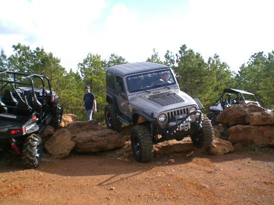 View from the top of a trail picture of barnwell for Atv parks in texas with cabins