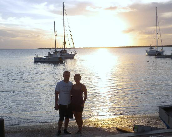 Bamboo Bali Bonaire Resort: And of course some romance at sunset :)