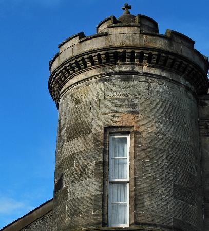 Kincaid House Hotel: Tower  & blue sky