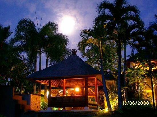 Surf Haven Bali: Full moon from  the villa