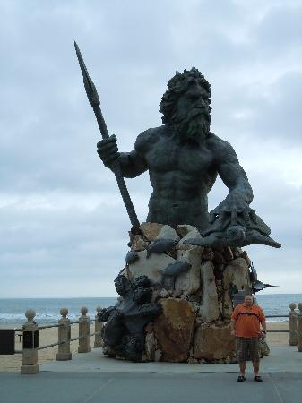 Virginia Beach, Virginie : Neptun, am Strand von VB