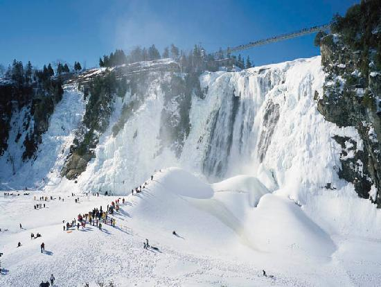 Montmorency Falls And Its Unique Sugarloaf Picture Of Montmorency Falls Park Quebec City
