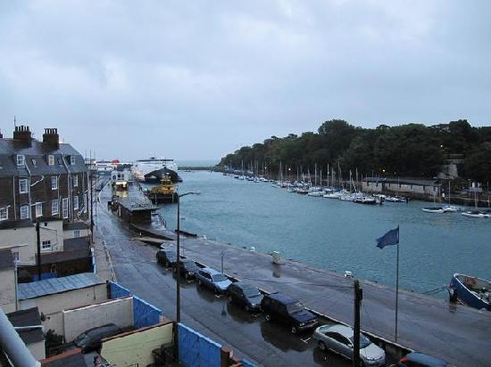 The Lantana: View from Rm 9:  Ferries to Channel Islands & St Malo are that close a walk.