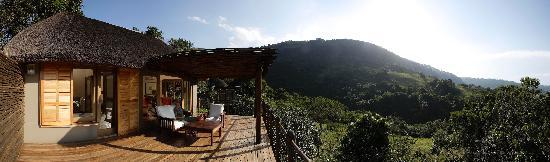 Karkloof Safari Spa: View from a luxury villa at sunrise