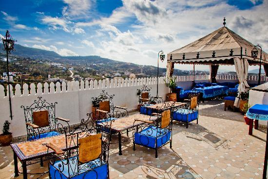 Hotel Dar Mounir: la terrasse avec une superbe vue