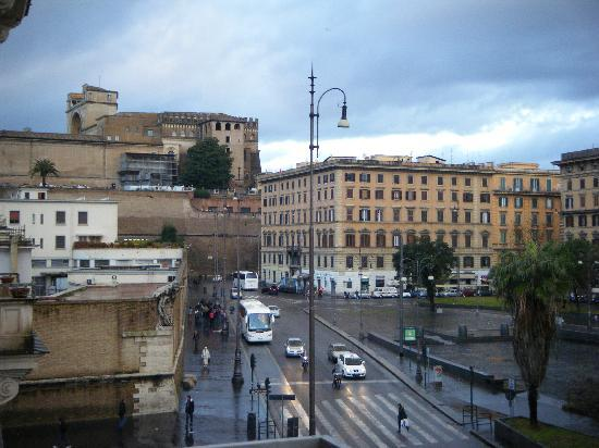 Il Passetto: View from our Balcony, Vatican Museum in Background