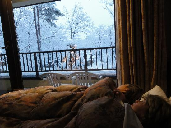 Hakuba-mura, Giappone: Why bother getting out of bed anyway..?