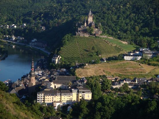 View of Cochem from the hills