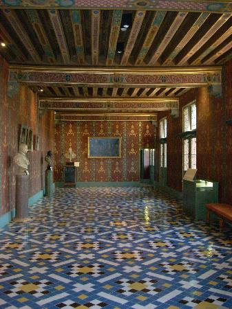 Blois, France: A second floor gallery in the Francis I wing