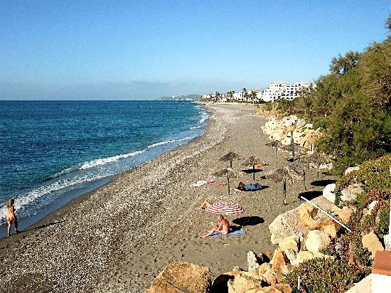 Estepona, Spain: Naturist Beach With Gibraltar In The Background
