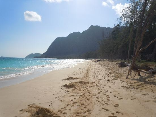 Waimanalo, : The beach was never crowded!