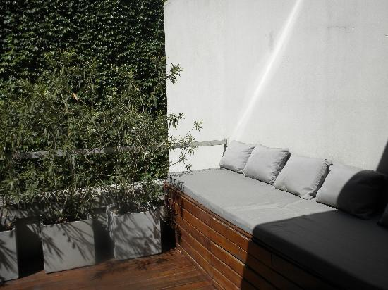 Tailor Made Hotel: Lounge bench on our terrace