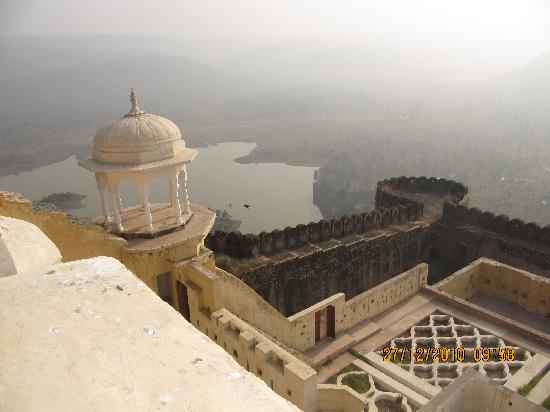 Alwar, India: Lake view from Top of the Kanakwari Fort