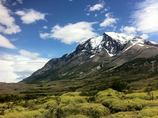 Torres del Paine, Chili : view from the little walk behind the hotel