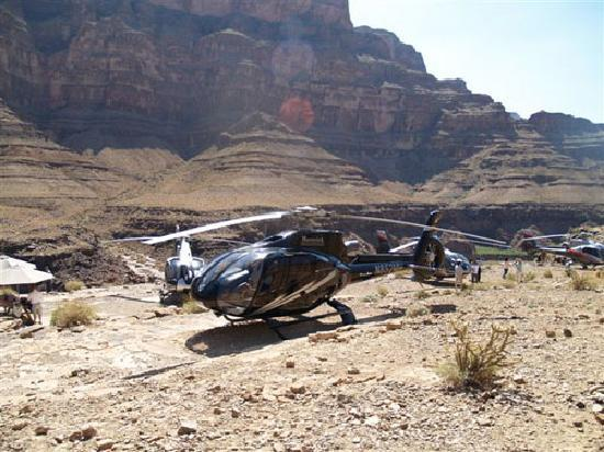 Grand Canyon Landing Tour Departing Las Vegas  Video Of Mustang Helicopters