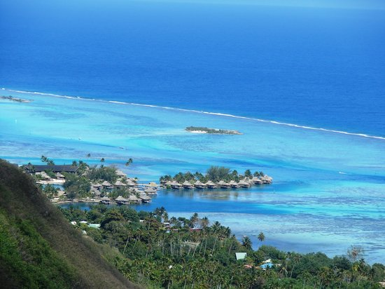 Maharepa, French Polynesia: Ausblick vom Magic Mountan