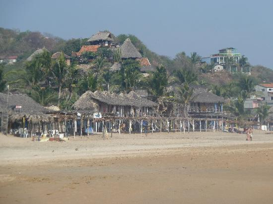 Beach area in Zipolite