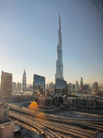 Room with a view of burj khalifa picture of dusit thani for Burj khalifa room rates