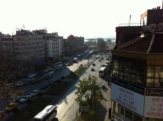 Aksaray, Turkey: the view from the balcony of top roof restaurant