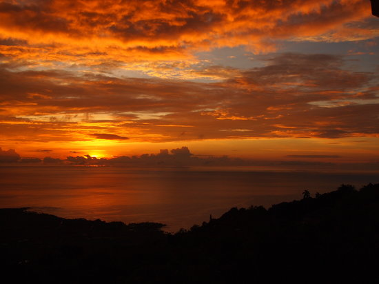 Captain Cook, HI: Winter Sunset from Crow&#39;s Nest