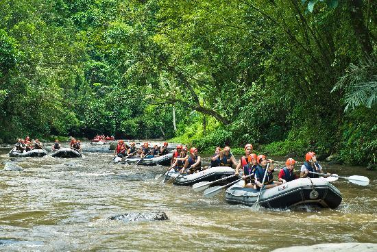 rafting at ayung