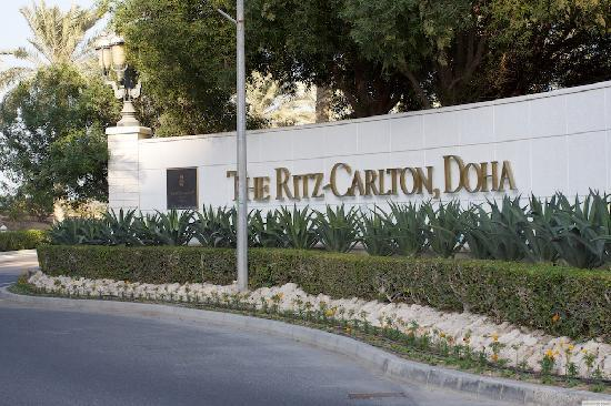 The Ritz-Carlton, Doha: Entrance to the Property