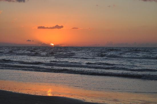 Galveston, TX: Sunrise Over the Gulf of Mexico